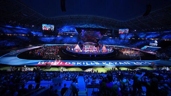 Церемония открытия 45-го Мирового чемпионата по профессиональному мастерству WorldSkills Kazan 2019 на стадионе Казань Арена