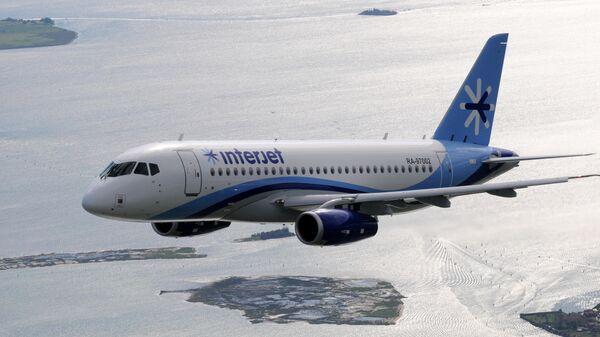 Самолет Sukhoi Superjet 100 авиакомпании Interjet