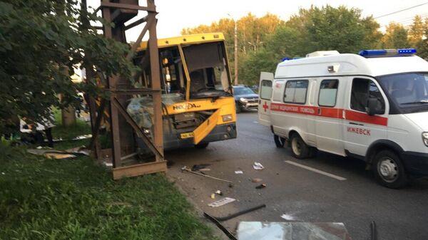 ДТП с участием маршрутного автобуса в Ижевске. 23 августа 2019