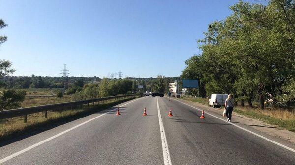 В Харькове обрушился автомобильный мост в районе Лоск. 25 августа 2019