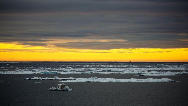 Плавающие льдины в акватории Северного Ледовитого океана