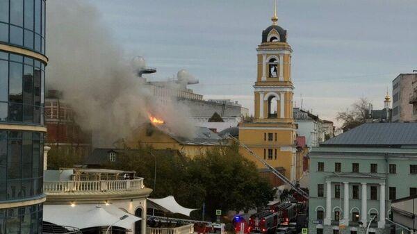 Пожар в Богородице-Рождественском ставропигиальном женском монастыре в Москве. 26 августа 2019