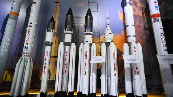 Макеты ракет-носителей на Международном авиационно-космическом салоне МАКС-2019