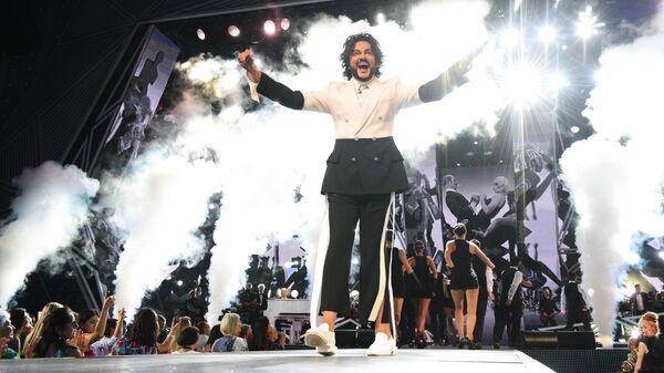 Певец Филипп Киркоров выступает на конкурсе Новая волна - 2019 в Сочи