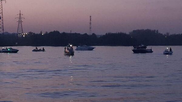 На месте падения частного летательного аппарата в Клязьминское водохранилище. 31 августа 2019