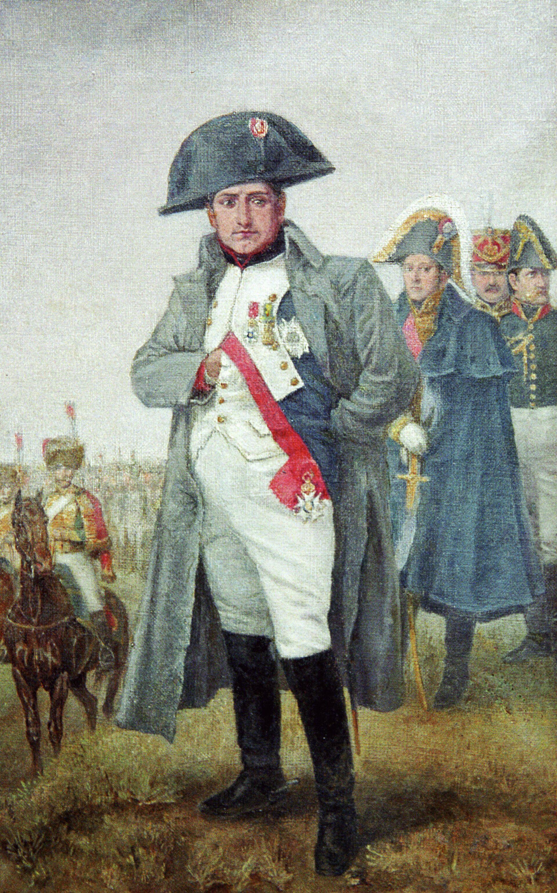 Репродукция портрета Наполеона, написанного неизвестным художником в конце XIX века - РИА Новости, 1920, 15.08.2021