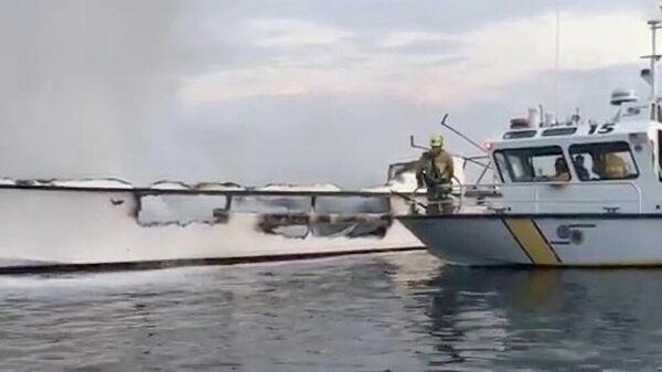 Поврежденное водолазное судно Conception