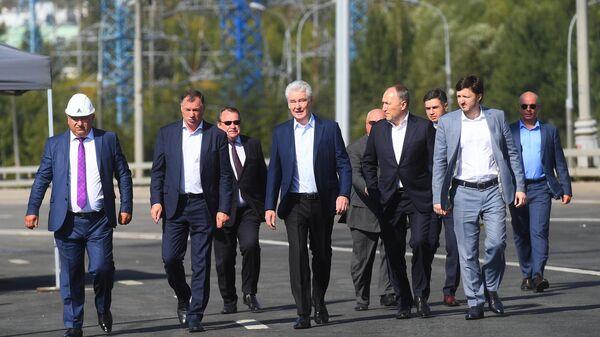 Мэр Москвы Сергей Собянин на открытии новой транспортной развязки на пересечении Бесединского шоссе с МКАД. 3 сентября 2019