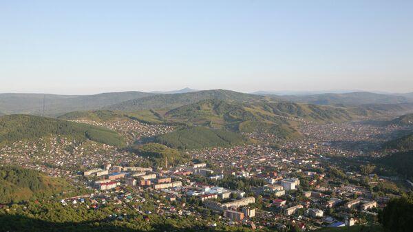 Вид на город Горно-Алтайск