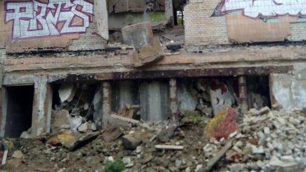 Обрушение здания в Московской области