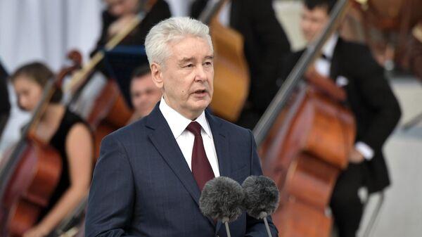 Мэр Москвы Сергей Собянин выступает на торжественном мероприятии на ВДНХ, посвящённом празднованию Дня города Москвы
