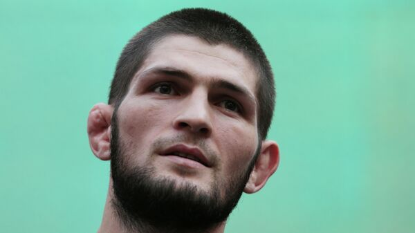 Боец UFC Хабиб Нурмагомедов (Россия)