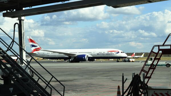Самолет Boeing 787 авиакомпании British Airways в аэропорту Домодедово