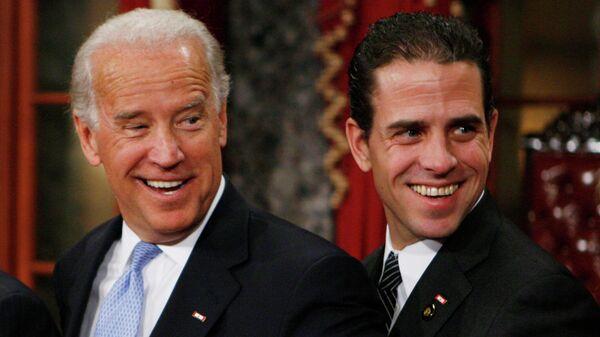 Джо Байден с сыном Хантером в Вашингтоне. 2009 год