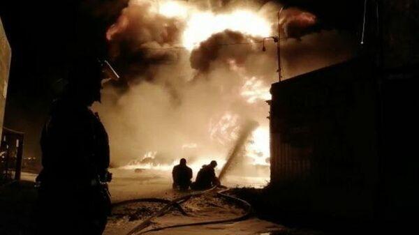 Крупный пожар в Богородском районе. Видео с места ЧП
