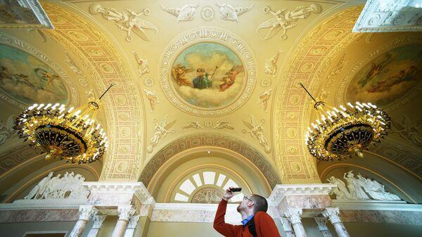 Залы Московского Английского клуба после реставрации