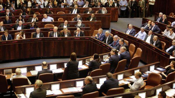 Министры и парламентарии Израиля перед голосованием в Кнессете. 29 мая 2019