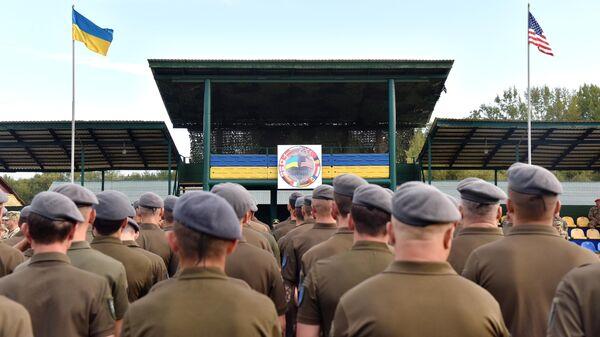 Военнослужащие во время учения Rapid Trident-2019 во Львовской области