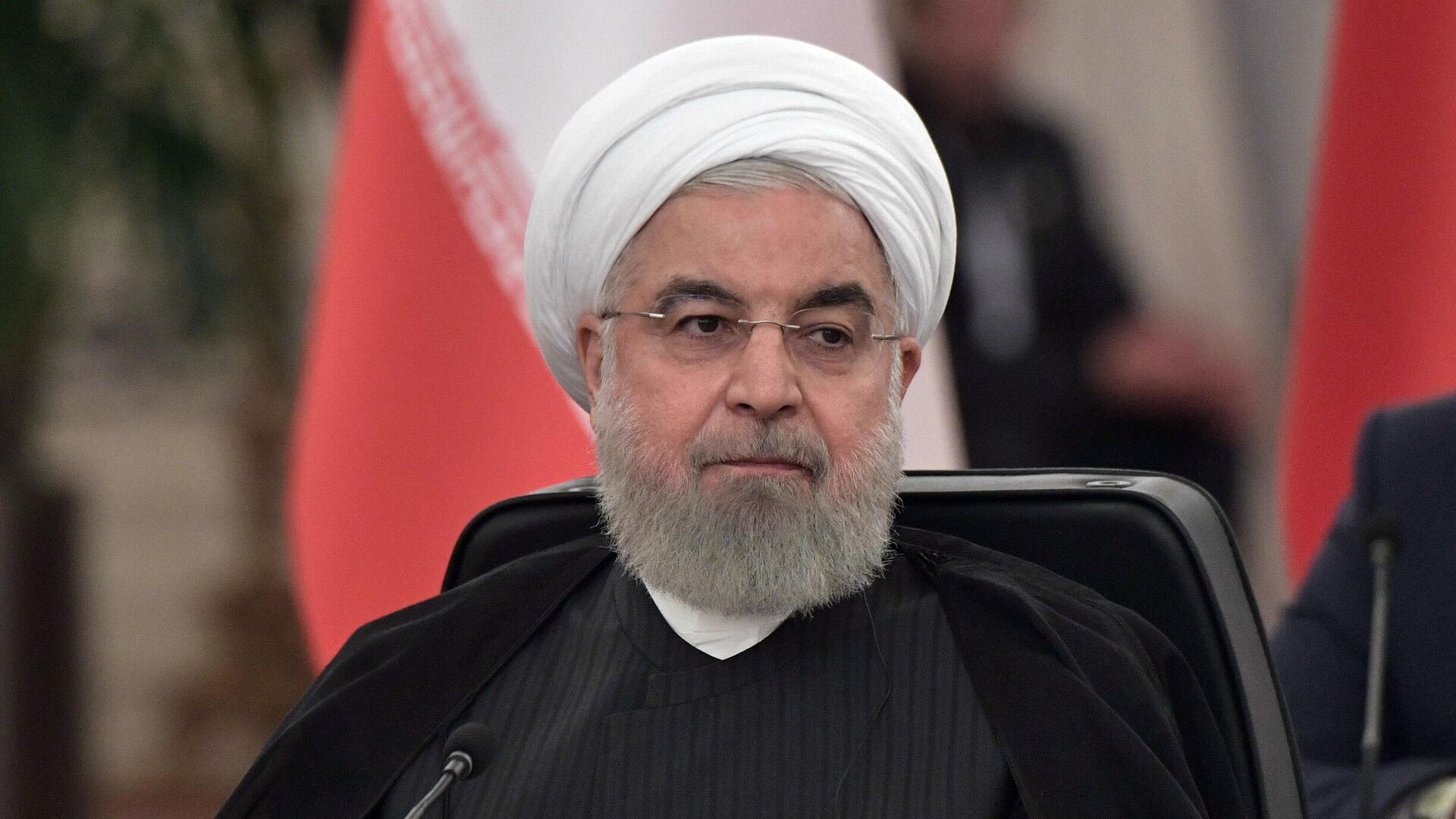 Президент Ирана Хасан Рухани на V встрече глав государств - гарантов Астанинского процесса содействия сирийскому урегулированию - РИА Новости, 1920, 08.11.2020