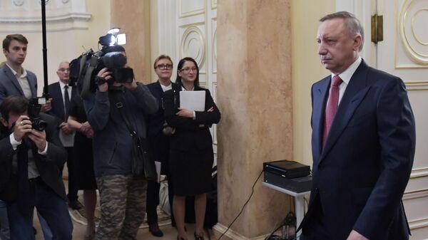 Избранный губернатор Санкт-Петербурга Александр Беглов на церемонии инаугурации в Мариинском дворце. 18 сентября 2019
