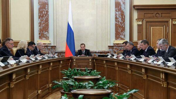 Дмитрий Медведев проводит заседание правительства России. 2019 год