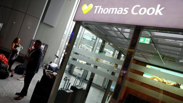Логотип компании Thomas Cook в аэропорту Франкфурта
