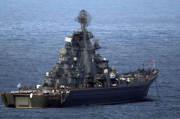 Российский крейсер Петр Великий покинул Индию