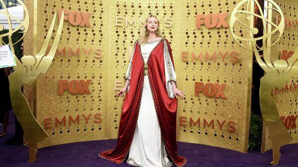 Британская актриса Гвендолин Кристи на церемонии вручения премии Эмми в Лос-Анджелесе