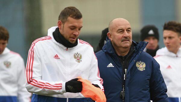 Артем Дзюба и Станислав Черчесов