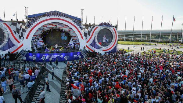 Сцена, построенная к Гран-при Формулы-1 в Сочи