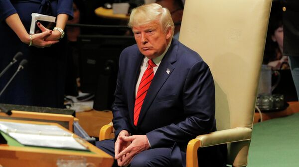 Президент США Дональд Трамп на 74-й сессии Генеральной Ассамблеи ООН