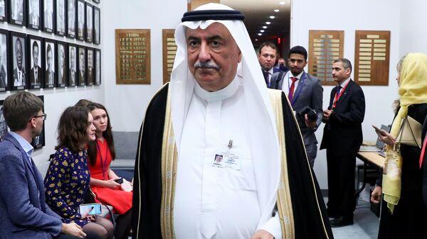 Министр иностранных дел Саудовской Аравии Ибрагим аль-Ассаф перед встречей с министром иностранных РФ Сергеем Лавровым в рамках 74-й сессии Генеральной Ассамблеи ООН