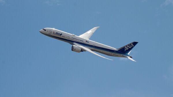 Самолет Boeing 787 японской авиакомпании ANA