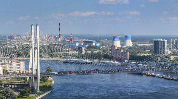Электростанция ПАО ТГК-1 в Санкт-Петербурге
