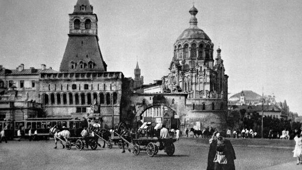 Москва в 1920-е годы. Лубянская площадь (с 1926 г. - площадь Дзержинского)