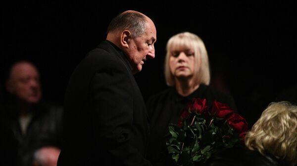 Актер Борис Клюев на церемонии прощания с режиссером Марком Захаровым в театре Ленком в Москве