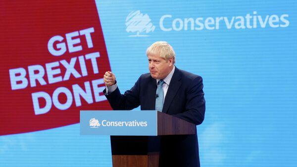 Премьер-министр Великобритании Борис Джонсон на съезде Консервативной партии в Манчестере. 2 октября 2019