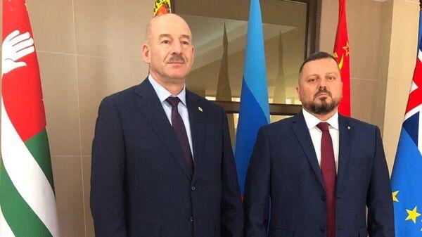 Церемония подписания Соглашения о правовой помощи и сотрудничестве между МВД ЛНР и МВД Республики Южная Осетия