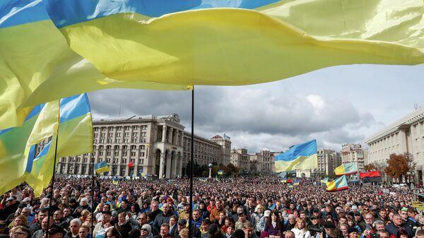 Митинг против формулы Штайнмайера в Киеве, Украина. 6 октября 2019