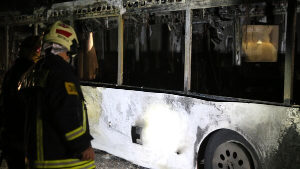 Последствия ДТП с участием автобусом в Алабяно-Балтийском тоннеле в Москве