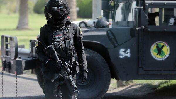 Боец спецподразделения по борьбе с терроризмом в Ираке