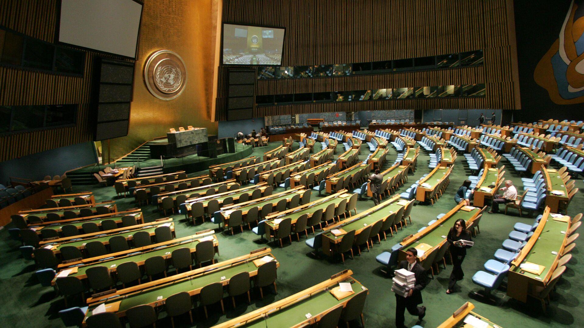 Зал Генассамблеи Организации Объединенных Наций в Нью-Йорке - РИА Новости, 1920, 16.12.2020