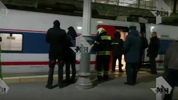 Появилось видео с прибывшим в Москву радиоактивным поездом