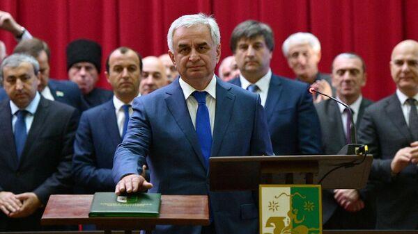 Президент Абхазии Рауль Хаджимба