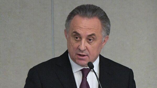 Заместитель председателя правительства РФ Виталий Мутко на пленарном заседании Государственной Думы РФ. 9 октября 2019