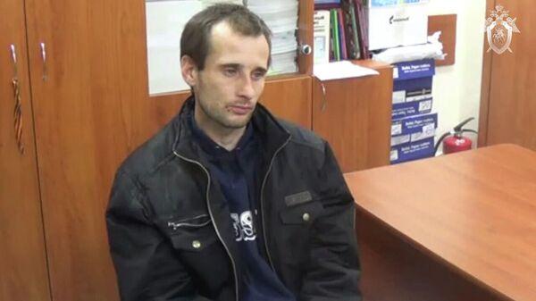 Михаил Туватин, подозреваемый в убийстве девятилетней девочки в Саратове, во время допроса