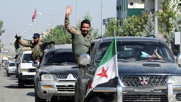 Сирийские военные в районе сирийско-турецкой границы. 10 октября 2019