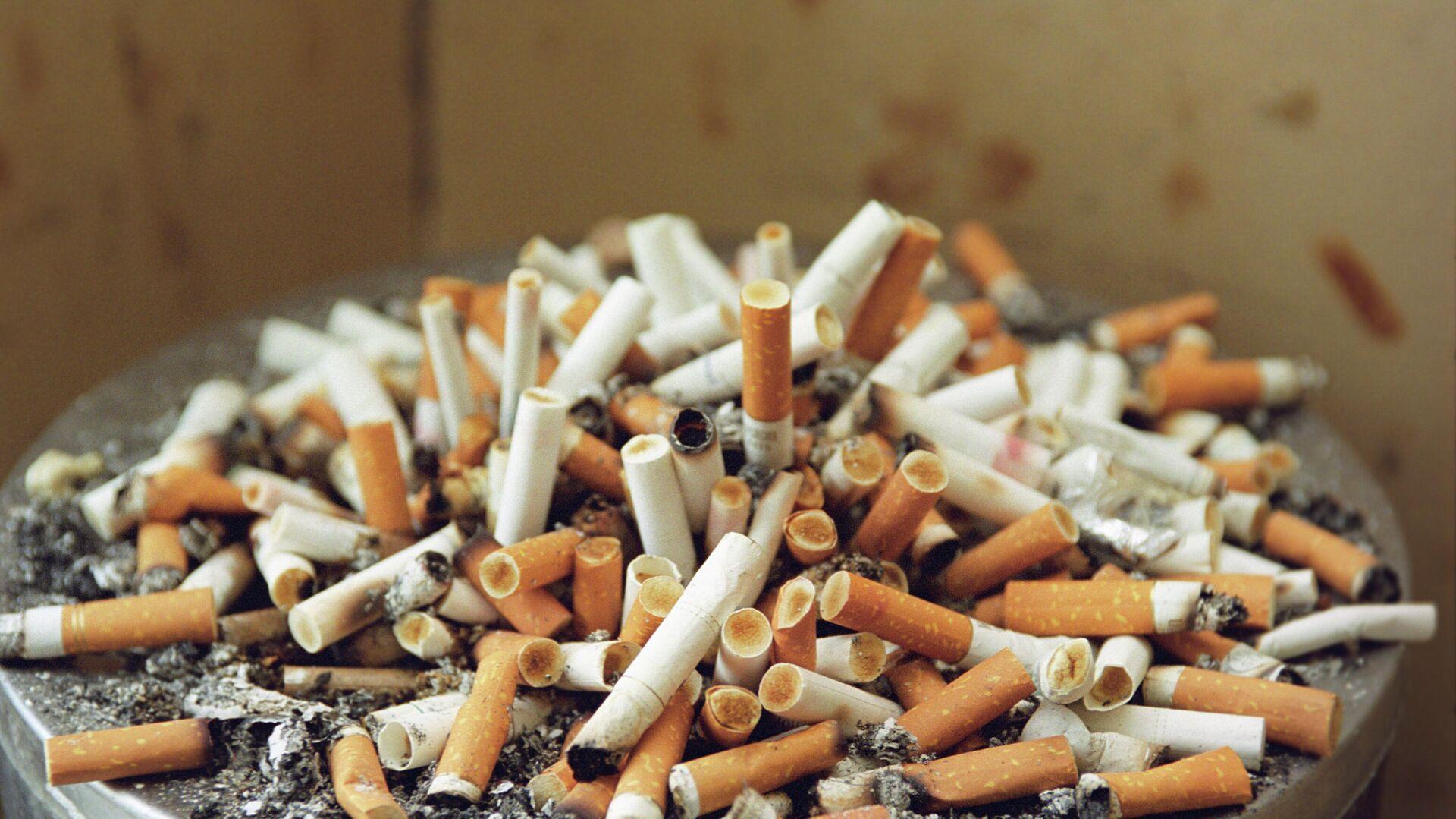 Урна с окурками сигарет - РИА Новости, 1920, 27.07.2021