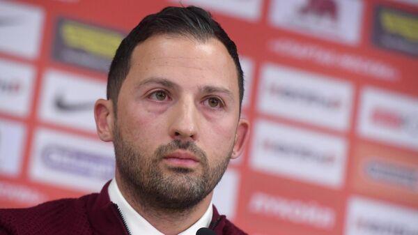 Главный тренер Спартака Доменико Тедеско на пресс-конференции в Москве.