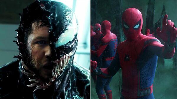 Кадры из фильмов Веном и Человек-паук: Вдали от дома
